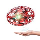 UFO ドローン/ラジコンヘリコプター ミニ無人機 Flying ball 360度回転 子供及び大人向けのプレゼント6歳以上 LEDライト付き 初心者に適する 日本語取扱説明書付き(Red)