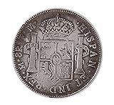 【2点セット】 1776年 スペイン領 メキシコ カルロス3世 銀貨 レプリカ & 酉年 記念メダル