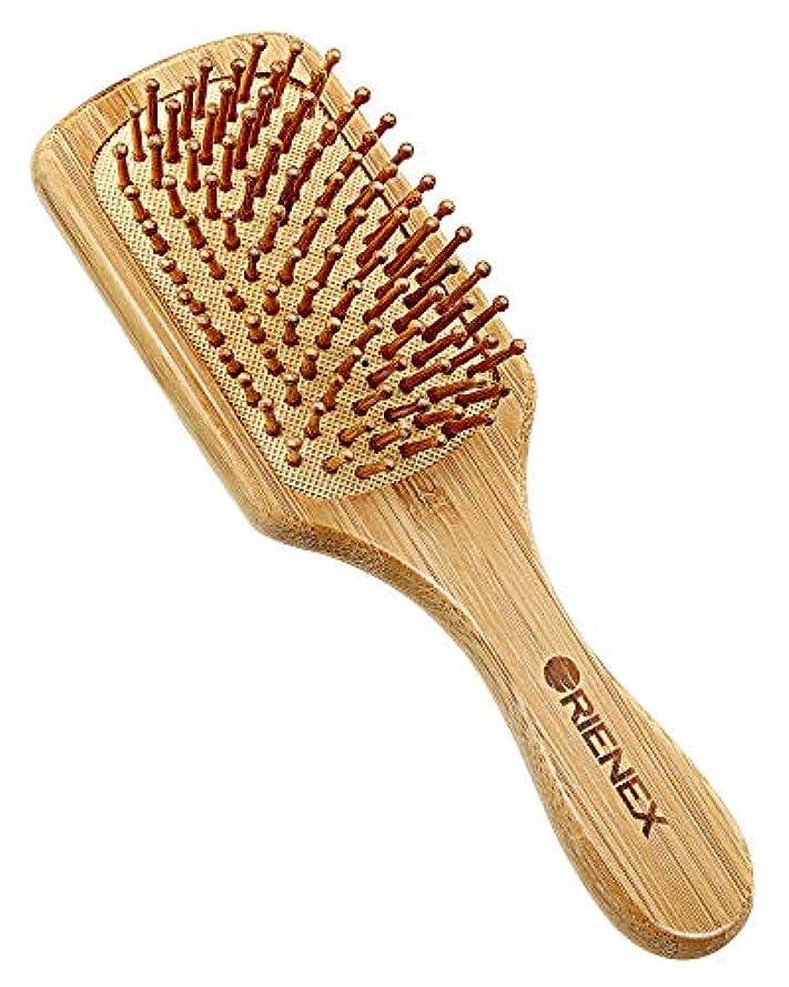 制約分岐する五月Orienex ヘアブラシ 櫛 木製 美髪ケア 頭皮&肩&顔マッサージ(小)