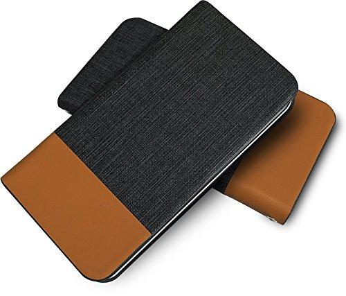 Tommy 手帳型ケース 牛革 本革 高級レザー PU レザー 磁気カードの磁気不良防止機構 マグネットなし ツートン tomy ダークグレー ブラウン