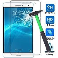 Infiland Huawei MediaPad T2 7.0 Pro ガラスフィルム 超薄フィルム MediaPad T2 7.0 Pro保護フィルム 硬度9H透明強化ガラス気泡ゼロ 耐指紋 撥油性