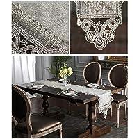 テーブルランナーの刺繍機械洗濯できる台所鋭い角の純色 ZHJING (Size : 40*120CM)