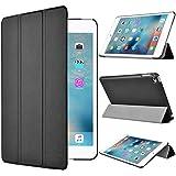 【IVSO】Apple iPad Mini 4 ケース,【選べる5色】オリジナルApple iPad Mini 4 専用カバー スマートケース 超薄型 最軽量 -Apple iPad Mini 4 専用ケース (Apple Ipad Mini 4, ブラック)
