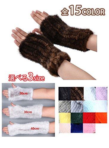 皮草編織手套手臂保溫手套手套的手溫暖的水貂皮編織手套皮草真毛手臂保溫手套毛皮手套的手指沒有智能手機的女士們無我有小拇指冷杉林的智能手機可愛的針織冬季