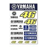 VR46 (motoGP正規輸入品) Valentino Rossi(バレンティーノ・ロッシ) Yamaha ステッカー Lサイズ YD-UST-214203