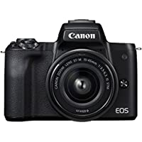 キヤノン EOS Kiss M 【EF-M15-45 IS STM レンズキット】 (ブラック/ミラーレス一眼カメラ…