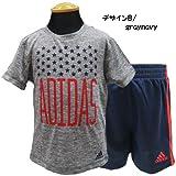 adidas アディダス ベビー 半袖 Tシャツ カットソー ショートパンツ ジャージ 上下セット セットアップ - デザインB/24M=85~90cm