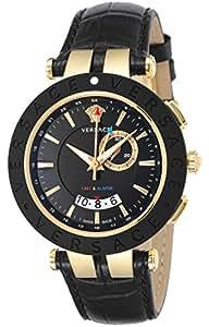 [ヴェルサーチ]VERSACE 腕時計 V-RACE ブラック文字盤 ステンレス(YGPVD)ケース  デイト 29G7S9D009S009 メンズ 【並行輸入品】