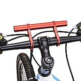West Biking 自転車 エクステンダーマウント アルミ合金製 ハンドルバー エクステンダー サイクルコンピューター ライトホルダー レット