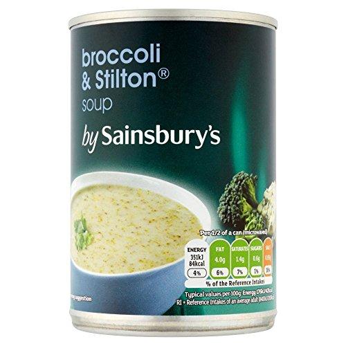 (Sainsbury's (セインズベリー)) ブロッコリー&スティルトンのスープ400グラム (x4) - Sainsbury's Broccoli & Stilton Soup 400g (Pack of 4) [並行輸入品]