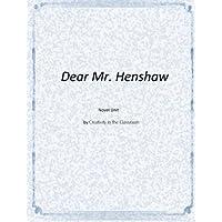 Dear Mr. Henshaw Novel Unit