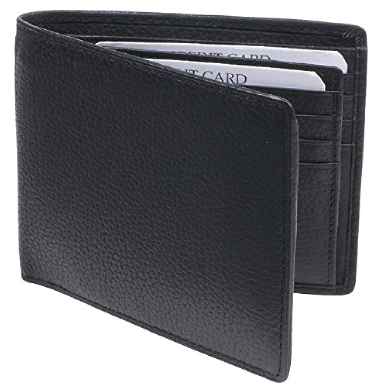 札入れ 小銭入れなし カード 12枚 収納 ダブルカードケース 2つ折り 牛革 製 2260