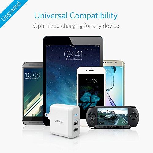 『Anker PowerPort 2 (24W 2ポート USB急速充電器 折畳式プラグ搭載) iPhone 6s / 6 / 6 Plus、 iPad Air 2 / mini 3、 Galaxy S6 / S6 Edge/Edge+、 Note 5 など対応 (ホワイト) A2141123』の4枚目の画像