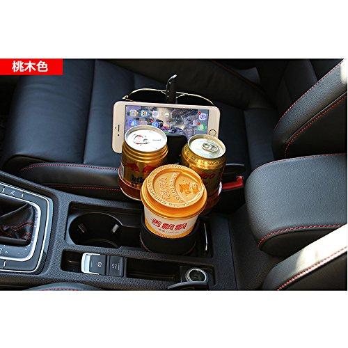 NOVUSS マルチマジックカップスタンド 車載カップスタンド 車載飲み物ホルダー自動車用ケータイホルダー(桃木色)