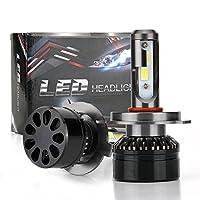 キットLEDヘッドライト60W 10000LM H4 9003 HB2 HI LO 6000K H7ハイロービームバルブ IP67 防水 CSP 21Pcs LEDチップクイックスタート360º回転可能な貫通力 (H4 HI LO 9003 HB2)