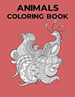 Animals Coloring Book: Best Coloring Book Gift For Kids. Awesome Forest and farm 50 Animals Coloring Book for Girls, Cute Horses, Birds, Owls, Elephants, Dogs, ... Rabbits, Ages 4-8, 9-12