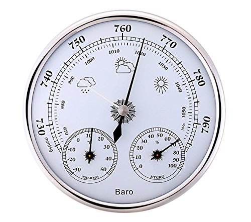 アナログ 式 壁掛け 気圧計 温度計 湿度計 サーモメーター バロメーター トリプルメーター
