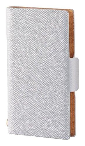 エレコム iPod nano ケース 第7世代 2015年モデル レザーカバー 横型フラップ 薄型 ホワイト AVA-N16PLFUWH