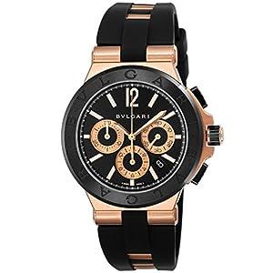 [ブルガリ]BVLGARI 腕時計 ディアゴノ ブラック文字盤 DGP42BGCVDCH メンズ 【並行輸入品】