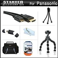 スターターアクセサリーキットfor the Panasonic Lumix DMC - dmc-gh3K、DMC - gh3ミラーレスMicro Four Thirdsデジタルカメラはデラックス携帯ケース+ 10柔軟な三脚+ Mini HDMIケーブル+ USB High Speed 2.0SDカードリーダー+スクリーンプロテクター+クリーニングクロス