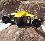 HYLH 水中スクーター 無人ロボット エクスプローラー 水中 電動 防水 デュアルスピードプロペラ ダイビングブースター プールトイ 水泳 キッズ 充電式 ボート イエロー