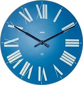 【正規輸入品 メーカー保証付き】 ALESSI アレッシィ Firenze フィレンツェ ウォールクロック ライトブルー 12 AZ