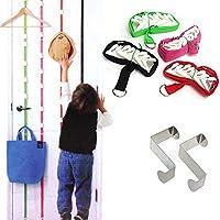 収納用フックロープ4セット、掛け布団、ジャケット、スカーフ、財布などの吊り下げ用掛け布団、掛け布団、