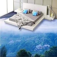 Wuyyii カスタムフレスコ画壁紙任意のサイズの雲3D床のリビングルームの寝室の厚い床-350X250Cm