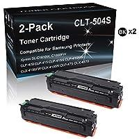 2個パック (ブラック) CLP-470 互換プリンターカートリッジ サムスン 504S (CLT-K504S) トナーカートリッジ (実物写真印刷)