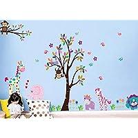 樱のホーム DIYの創造的 かわいい動物仲間のステッカー 子供部屋取り外し可能な壁のステッカー(示されるように)
