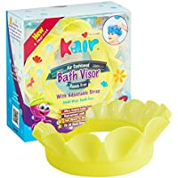Kair ケアー 漏れないシャンプーハット Bath Visor バスバイザー with Adjustable Strap アジャスター付き Yellow イエロー