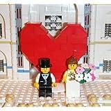 LEGO 新郎新婦 ミニフィグ 結婚式 ウェディング レゴ ★ハートのオブジェ付き★