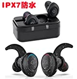 【完全ワイヤレス・進化版】YDCX Bluetooth イヤホン 両耳 ブルートゥース ワイヤレス ヘッドセット 防水 ハンズフリー 通話 CVC9.0ノイズキャンセリング搭載 高音質 低遅延 AACコーデック対応 (S2)