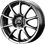 エーテック(A-TECH) タイヤホイール  シュナイダー スタッグ メタリックグレー   2本セット    14x5.5 +48   4H 100 0S766