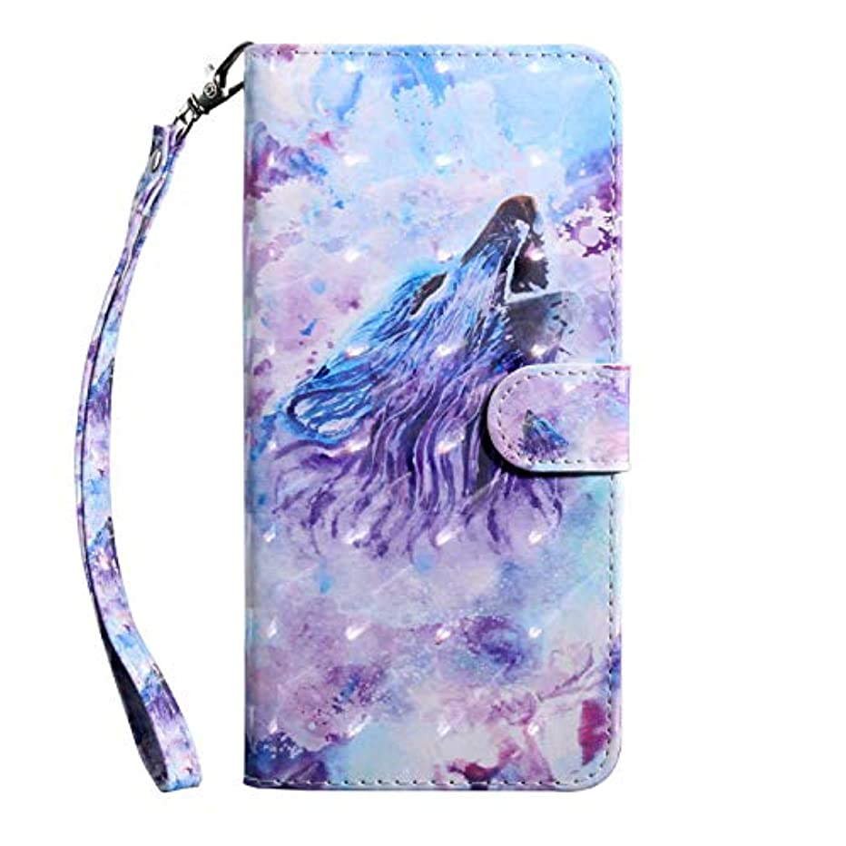 作成者素朴な振るうCUSKING Galaxy A6 ケース 手帳型 財布型カバー Galaxy A6 スマホカバー 磁気バックル カード収納 スタンド機能 サムスン ギャラクシ レザーケース –ウルフ