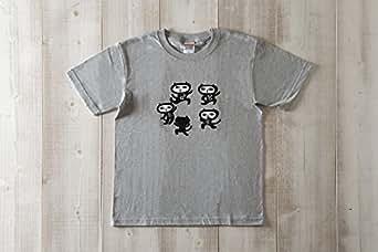 黒猫探偵社【8ダンス】ネコ柄Tシャツ ミックスクレー メンズ&ガールズ (S)
