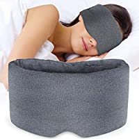 Skin Friendly Nylon Sleep Mask - Soft & Comfortable Night Sleep Eye Mask for Men Women, Grey