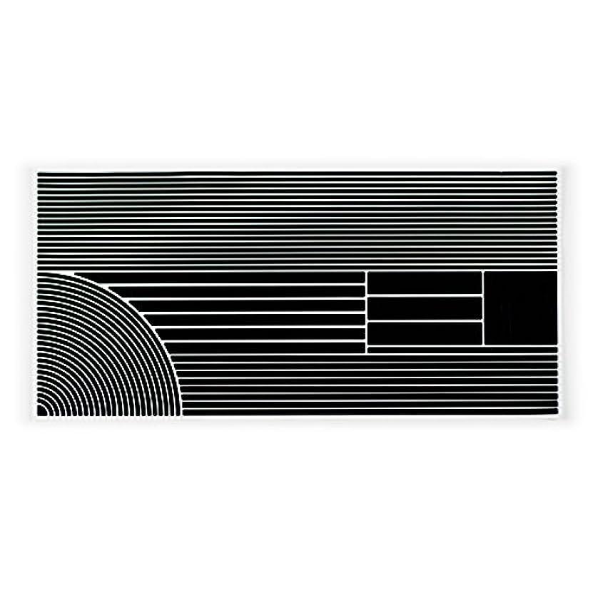 インク羊飼いリレーRydeSafe反射ステッカーマルチストライプディテールキット、ブラック