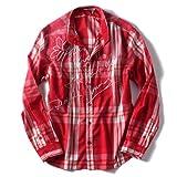 [XL・XXL・3XL]DESIGUAL(デシグアル) カジュアルシャツ(Javi) 42c1215 大きいサイズ メンズ【3088.レッド-XL】