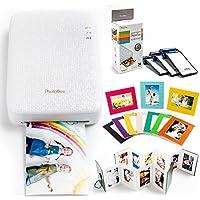 PHOTOBEE フォトプリンタファミリーパッケージ ( 粘着性のあるフォトペイパー48枚、折り畳みアルバム2個、段ボールフォトフレーム10枚)