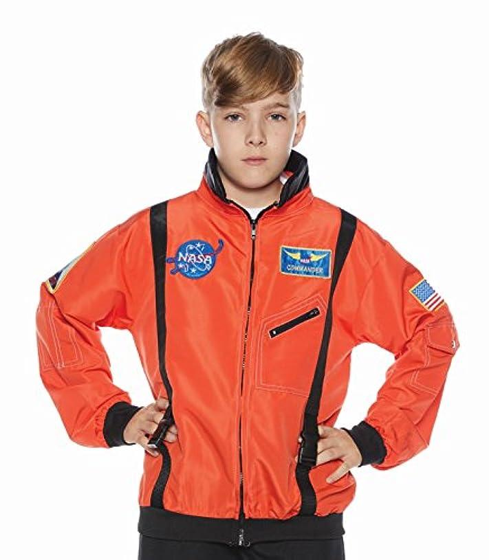 求人暴露無心子供用NASAオレンジ宇宙飛行士ジャケット スペースシャトル ハロウィーンコスチュームアクセサリー 10-12 オレンジ