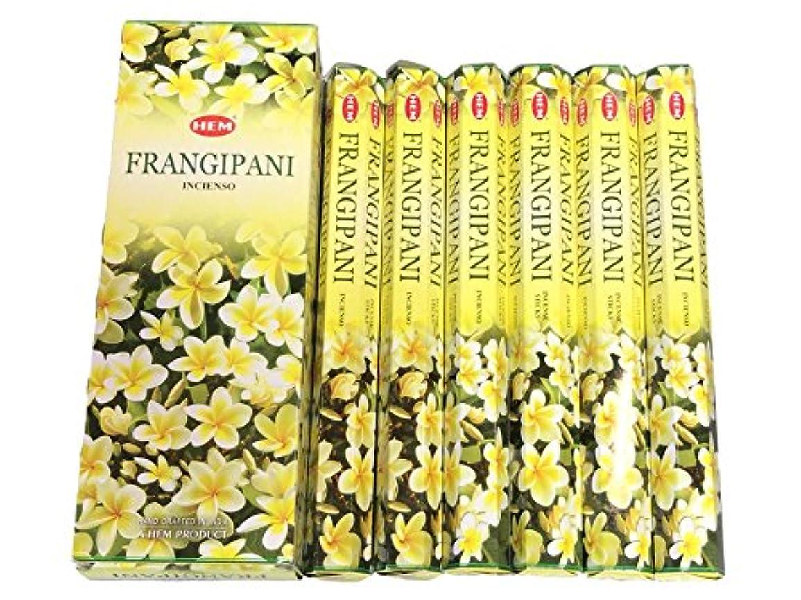 創始者疼痛機知に富んだHEM ヘム フランギパニ FRANGIPANI ステック お香 6箱