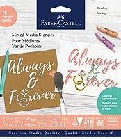 (202 - Wedding) - Faber-Castell Mixed Media Paper Stencils - 202 Collection - 10 Reusable Wedding Stencils