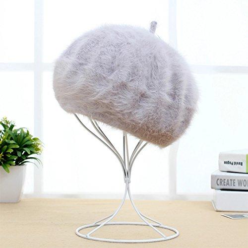 (ムコ) MUCO ベレー帽 レディース ウール かわいい おしゃれ ふわふわ 防寒 心地いい グレー