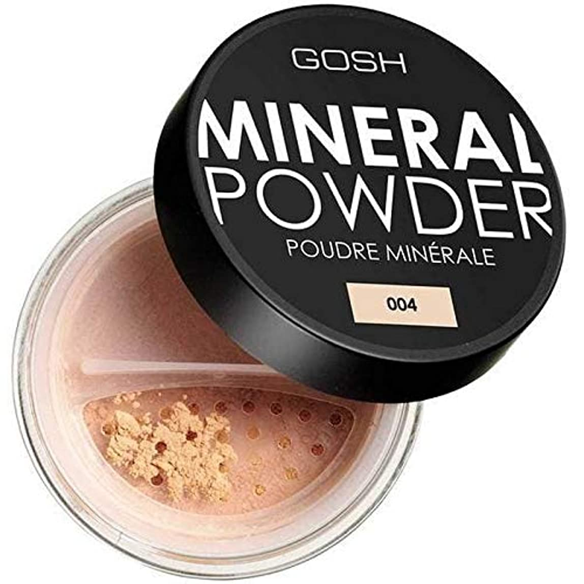 ピストン降ろすイライラする[GOSH ] おやっミネラルフルカバーファンデーションパウダーナチュラル004 - Gosh Mineral Full Coverage Foundation Powder Natural 004 [並行輸入品]