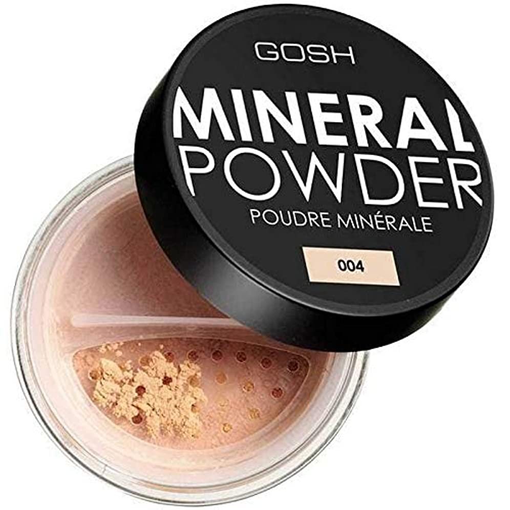 ポップクリック学部長[GOSH ] おやっミネラルフルカバーファンデーションパウダーナチュラル004 - Gosh Mineral Full Coverage Foundation Powder Natural 004 [並行輸入品]