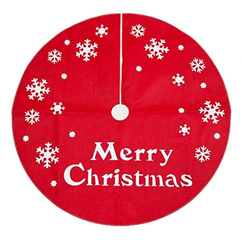 クリスマス ツリースカート フェルトカッティング φ90cm メーリークリスマス レッド