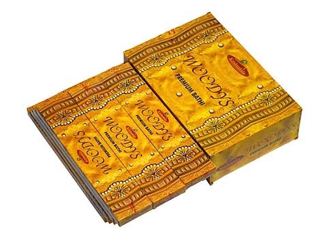王族脈拍ブッシュA-RAVI RAG(エーラビ ラグ) ウッディーズ香 スティック WOODYS 12箱セット