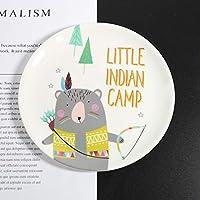 可愛い皿 プレート メラミン 漫画プレート 食器 デザート皿 子供 朝食プレート 円盤 Ammbous