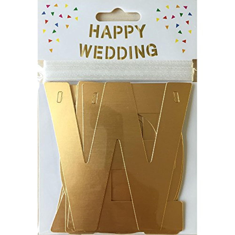 PI Original アルファベットガーランド(デコレーショングッズ) Happy?Wedding